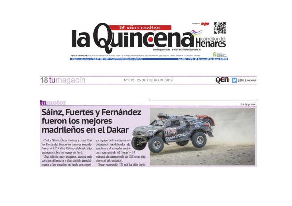 Sáinz, Fuertes y Fernández fueron los mejores madrileños en el Dakar